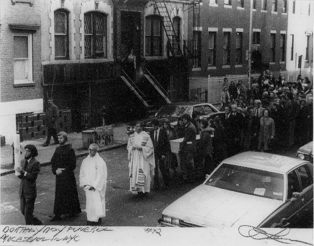 Dorothy Day funeral procession, 2 December 1930 (Tom Lewis photo) (640x501)