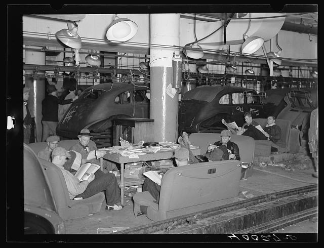 Striking Auto workers, Flint, Michigan, 1937