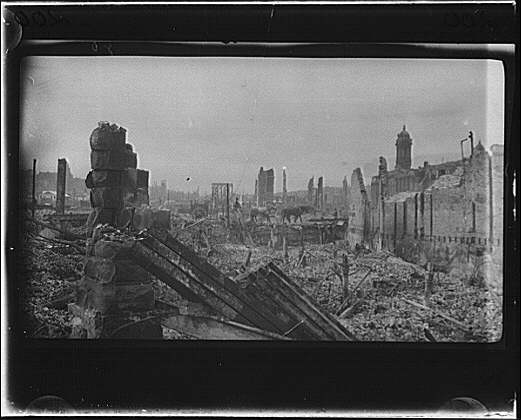 aftermath of the San Francisco earthquake, 1906